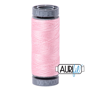 Aurifil 28 wt. 2423 in Baby Pink