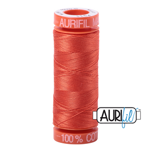 Aurifil 50 wt. 1154 in Small, Dusty Orange