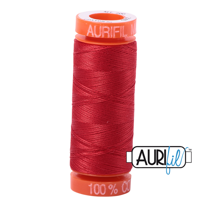 Aurifil 50 wt. 2265 in Small Lobster Red