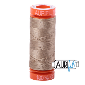 Aurifil 50 wt. 2325 in Small Linen