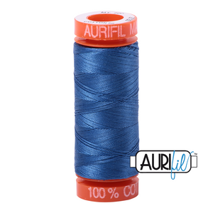 Aurifil 50 wt. 2730 in Small Delft Blue