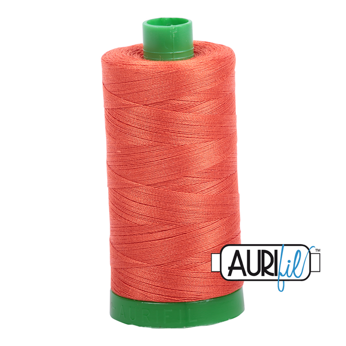 Aurifil 40 wt. 1154 in Dusty Orange