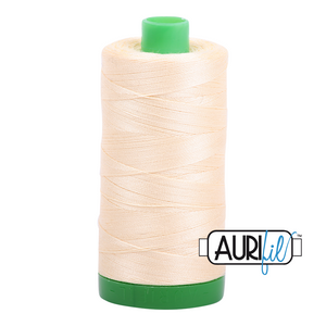 Aurifil 40 wt. 2123 in Butter
