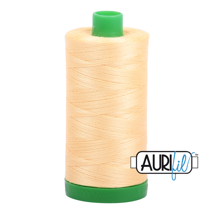 Aurifil 40 wt. 2130 in Medium Butter