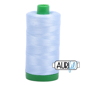 Aurifil 40 wt. 2710 in Light Robins Egg