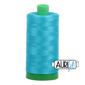 Aurifil 40 wt. 2810 in Turquoise