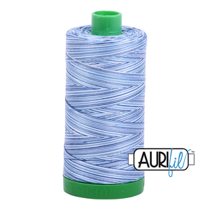 Aurifil 40 wt. 4655 in Storm at Sea