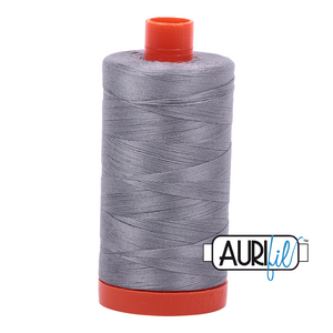 Aurifil 50 wt. 2605 in Large Grey