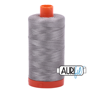 Aurifil 50 wt. 2620 in Large Stainless Steel