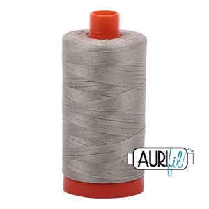 Aurifil 50 wt. 5021 in Large Light Grey