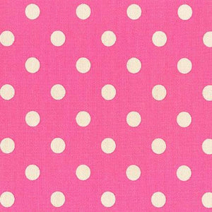 Sevenberry Canvas - Dots in Hot Pink
