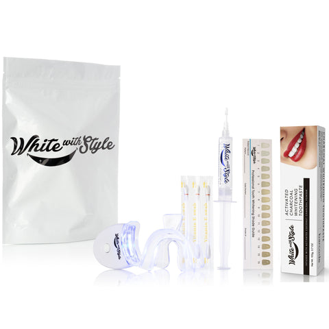 Sparkle White Teeth Whitening Kit w/Charcoal Toothpaste