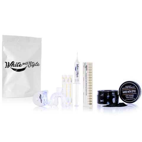 Sparkle White Teeth Whitening Kit w/Coconut Activated Charcoal