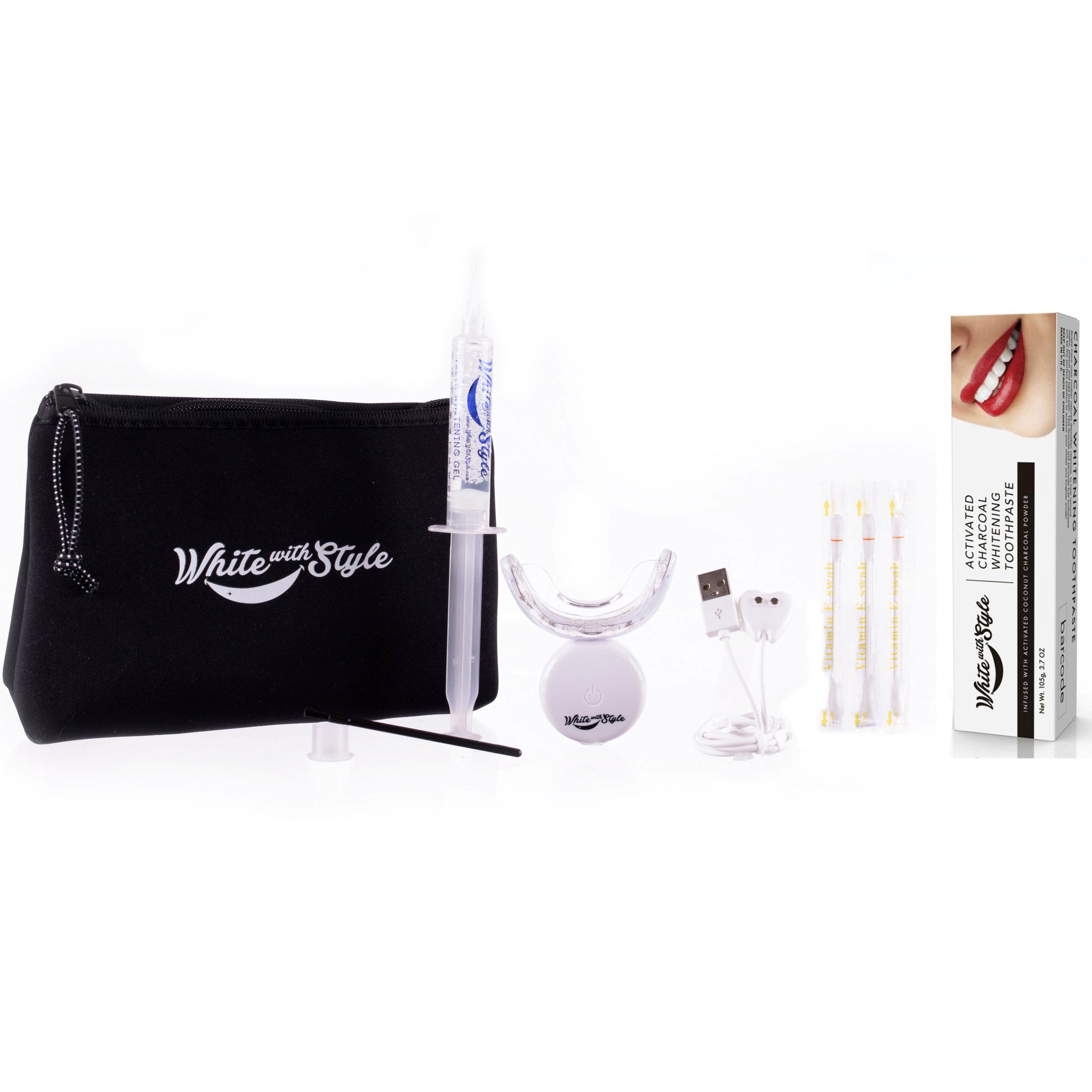 Stellar White Advanced Teeth Whitening Kit with Charcoal Toothpaste