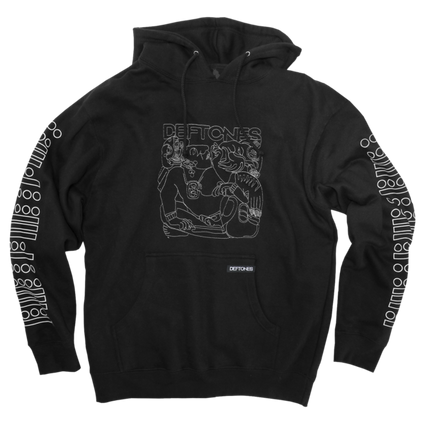 Glyph Embroidered Pullover Hoodie (Black)