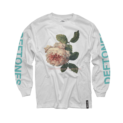 Flower Seafoam Green Longsleeve (White)