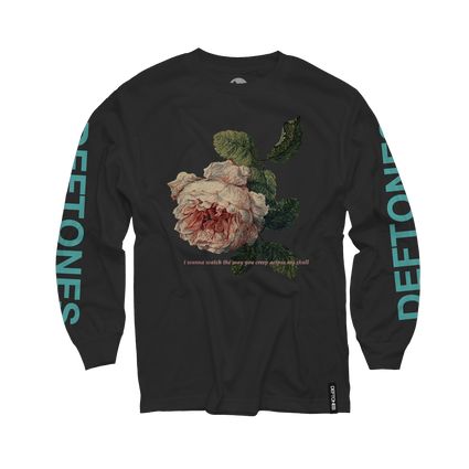 Flower Seafoam Green Longsleeve (Black)