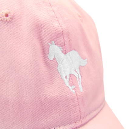 White Pony Dad Hat (Pink)
