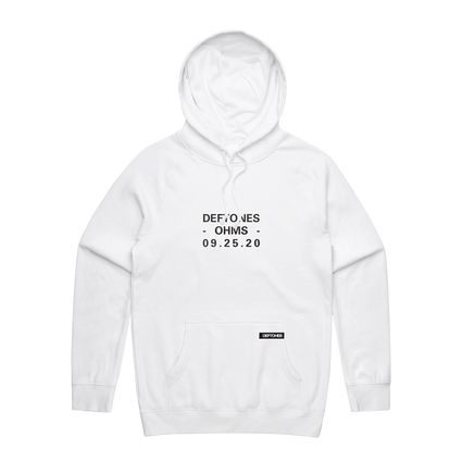 Ohms Pullover Hoodie (White)