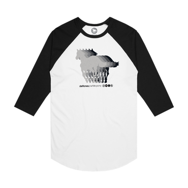 White Pony 20th Anniversary Baseball Raglan (White/Black)