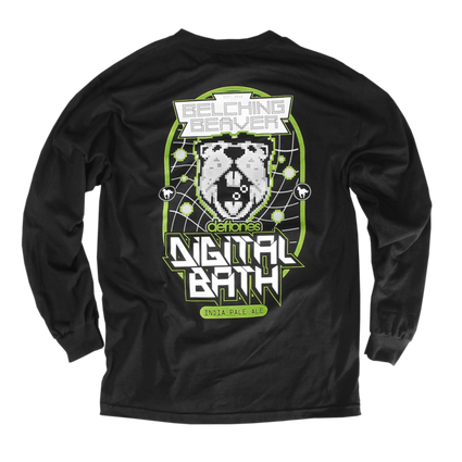Belching Beaver Digital Bath Longsleeve (Black)