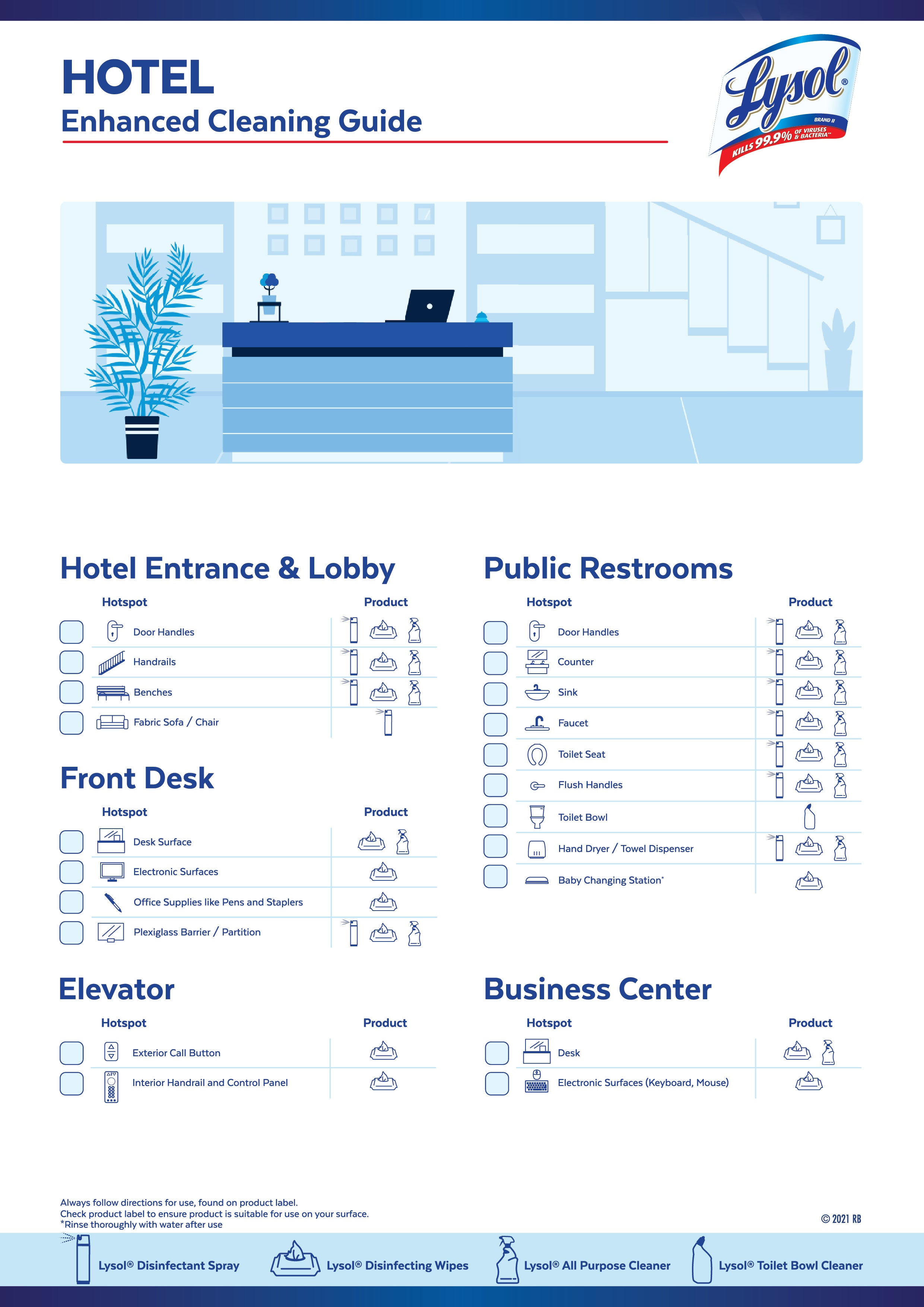 hotels cleaning guide