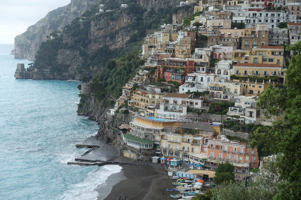 Positano cloudy day