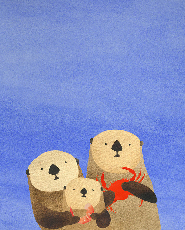 Otters and A Seafood Snack