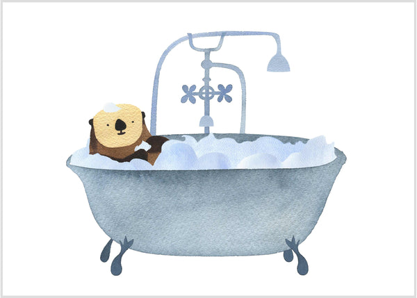 Otter in Bathtub