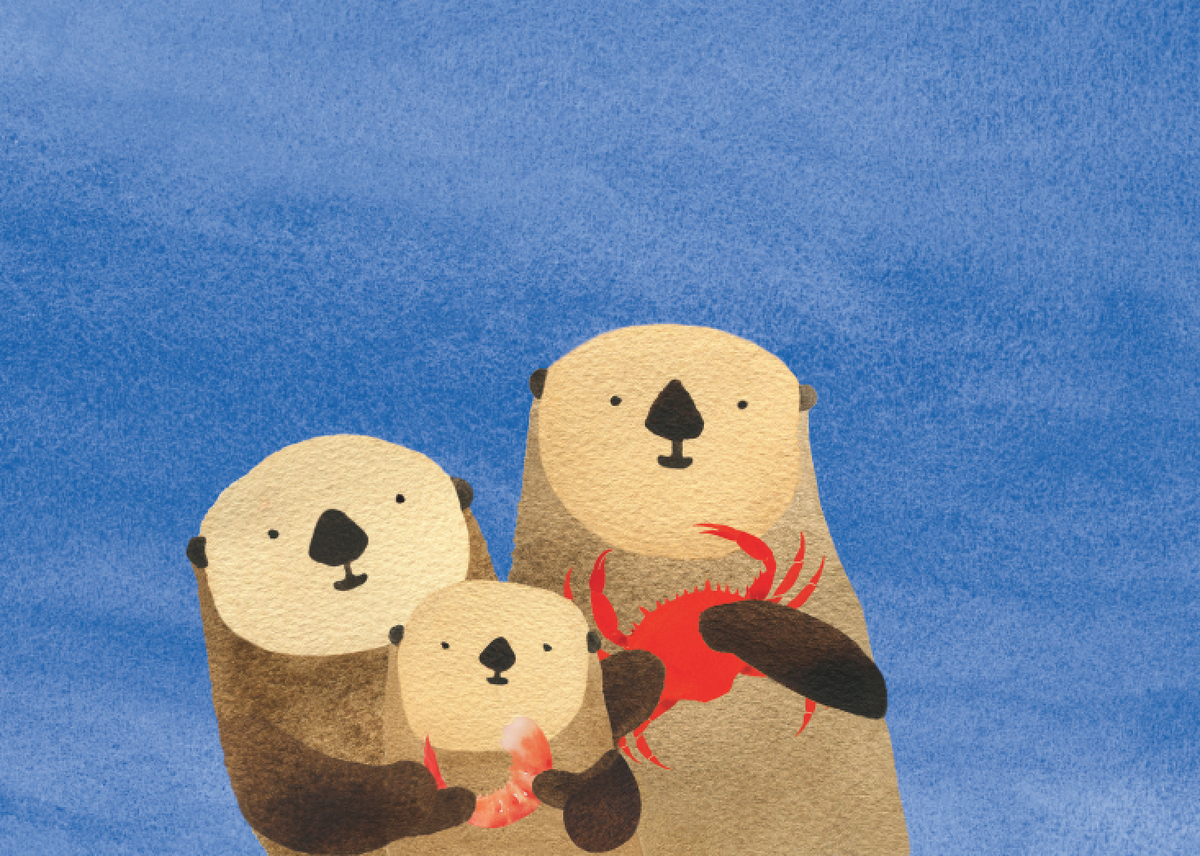 Otters and Seafood Snack