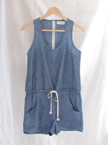 jack woven chambray romper