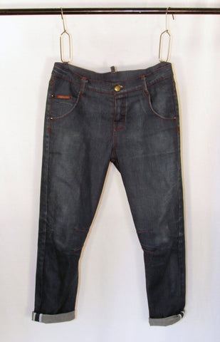 sawyer slim slouch jeans - denim - garage wash