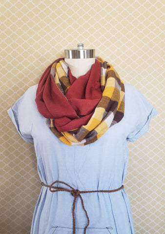 frances double-faced infinity scarf