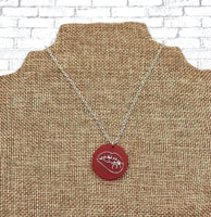 Middle Finger Stamped Necklace, Sexy Lips Stamped Necklace, Pot Leaf Stamped Necklace, Skeleton Middle Finger Stamped Necklace