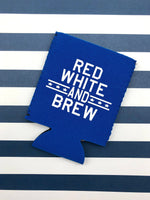 Red, White and Brew Can Cooler