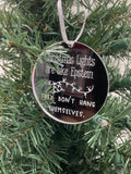 Epstein Christmas Ornament, Christmas Lights Are Like Epstein... They Don't Hang Themselves Ornament