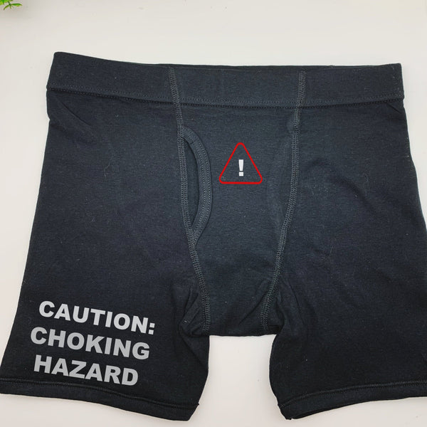 Caution: Choking Hazard Boxer Brief, Gifts For Him, Funny Boxer Briefs For Him