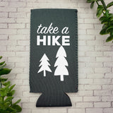 Take A Hike Skinny Can Cooler, Adventure Can Cooler, Gift For Hikers, Slim Can Cooler, Seltzer Can Cooler