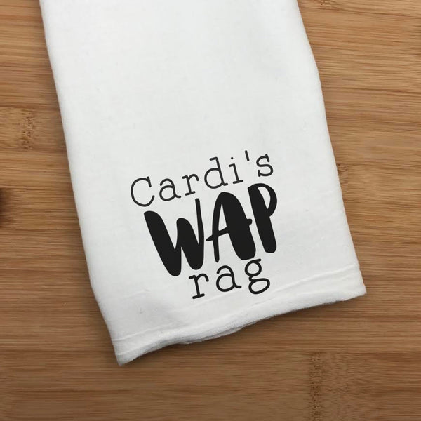 Personalized Name WAP Rag - Personalized Name WAP Towel - Any Name Sexy Time Towel - Clean Up Rag
