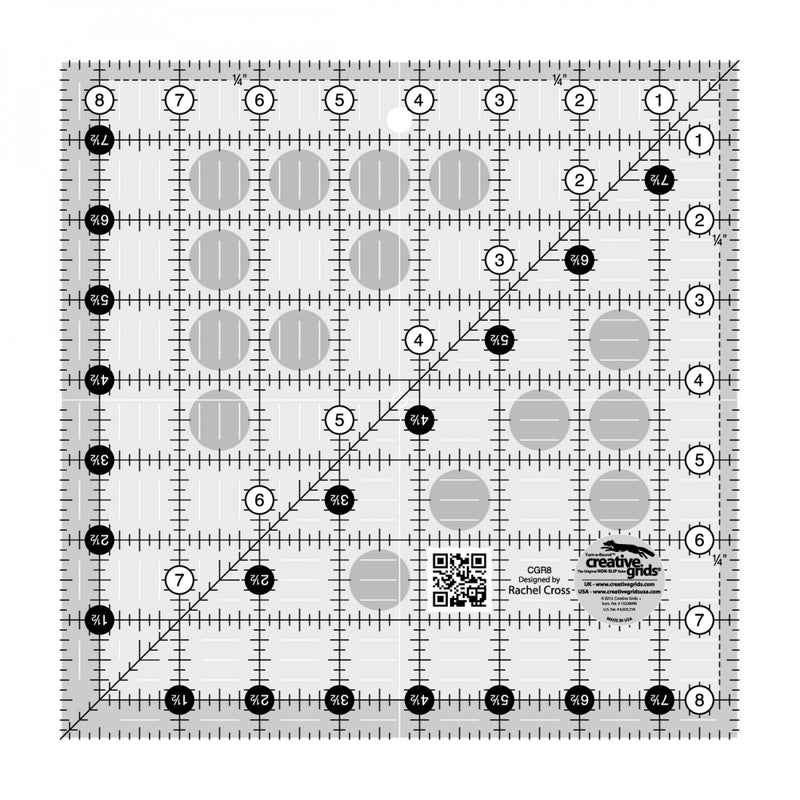 CHK Creative Grids Quilt Ruler 8-1/2in Square - CGR8