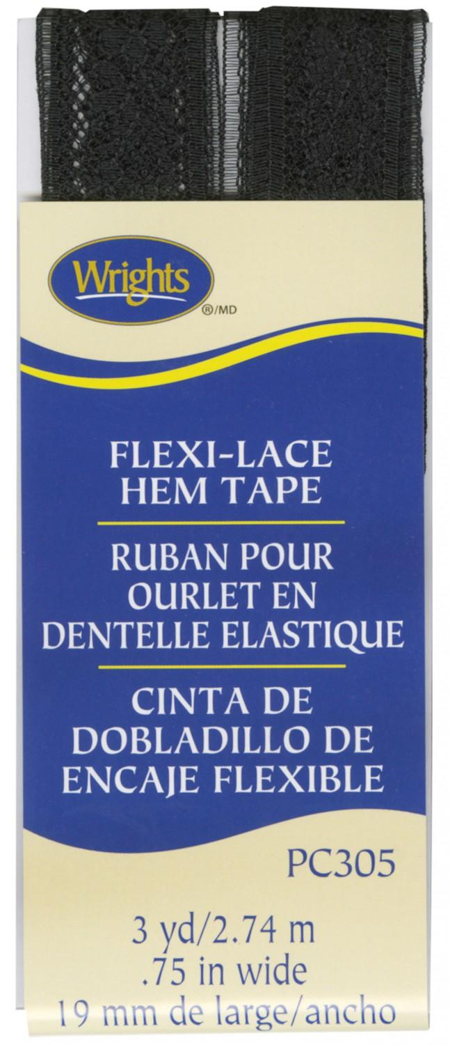 CHK Flexi-Lace Seam Binding Hem Tape Black - 117305-031
