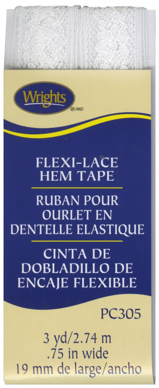 CHK Flexi-Lace Seam Binding Hem Tape White - 117305-030