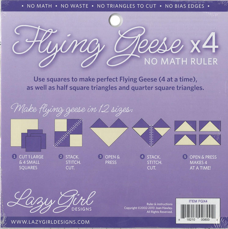 CHK Flying Geese x4 No Math Ruler - FGX4