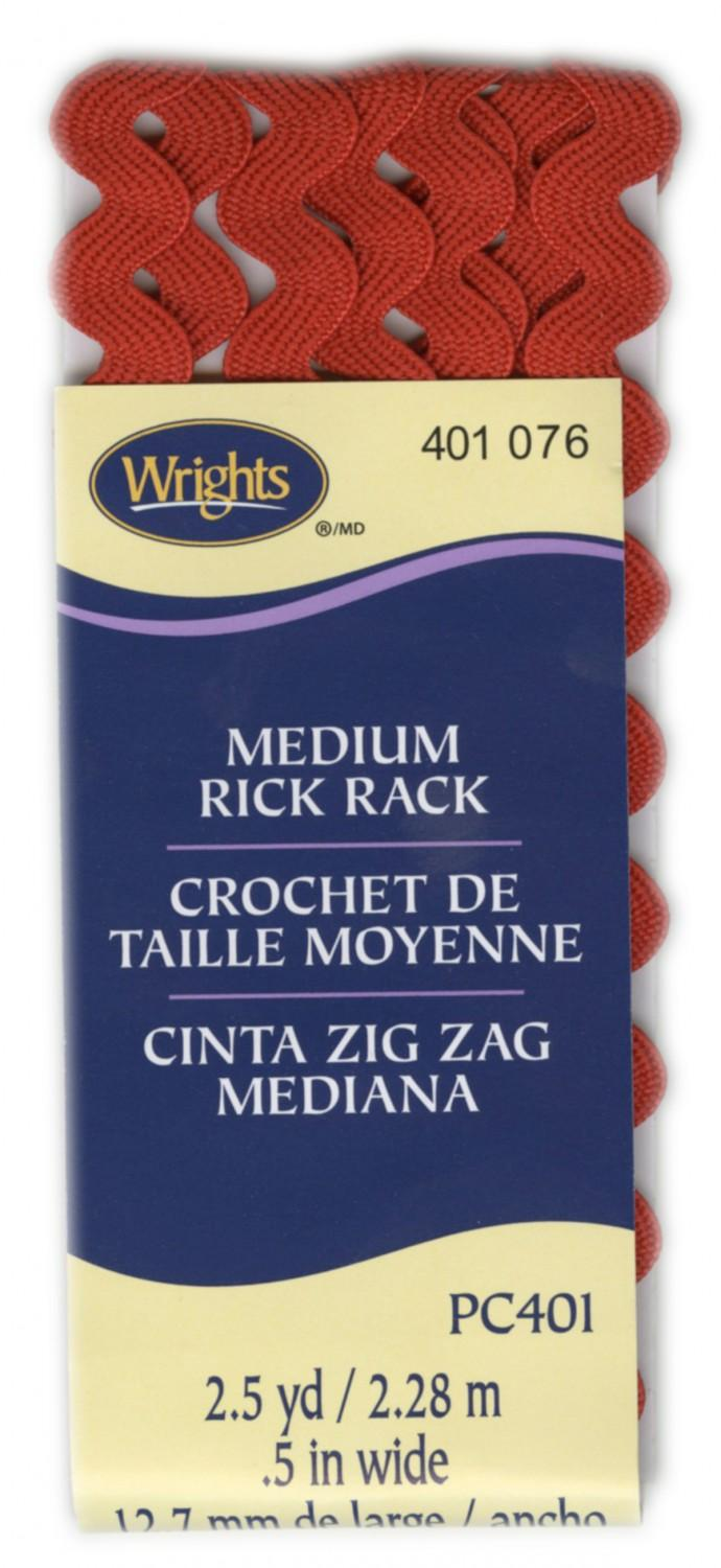 CHK Medium Rick Rack Scarlet - 117401076