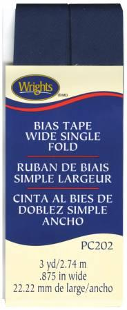 CHK Wide Single Fold Bias Tape Navy - 117202055