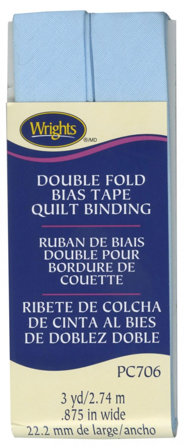 CHK Wrights Double Fold Bias Tape Blue - 117706515