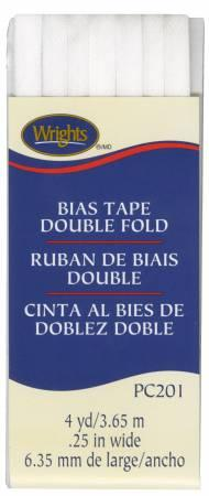 CHK Wrights Double Fold Bias Tape White - 117201030