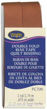 CHK Wrights Double Fold Quilt Binding Spice - 117706932