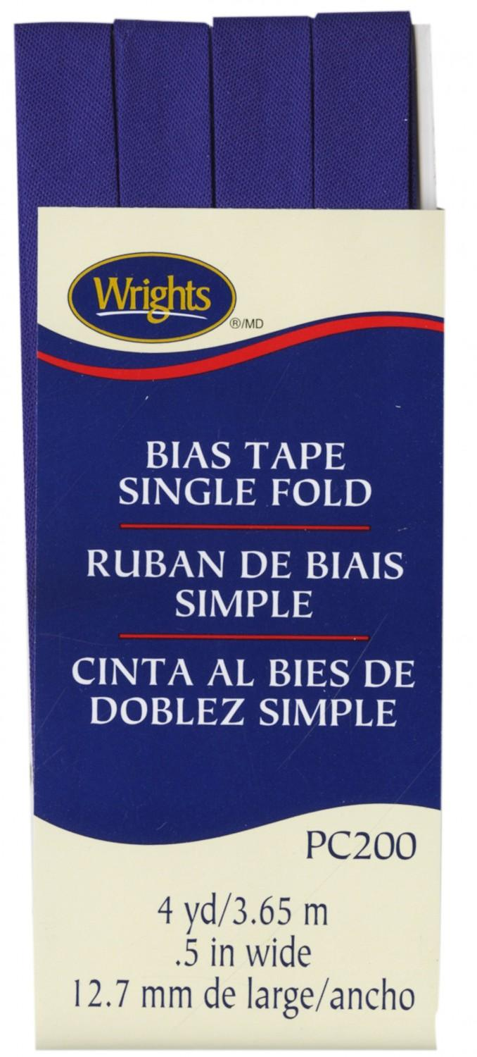 CHK Wrights Singl Fold Bias Tape Yale Blue - 117200078