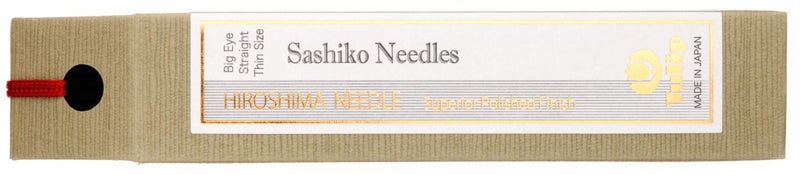Hiroshima Sashiko Needles Big Eye Straight Thin Size - THN-103E